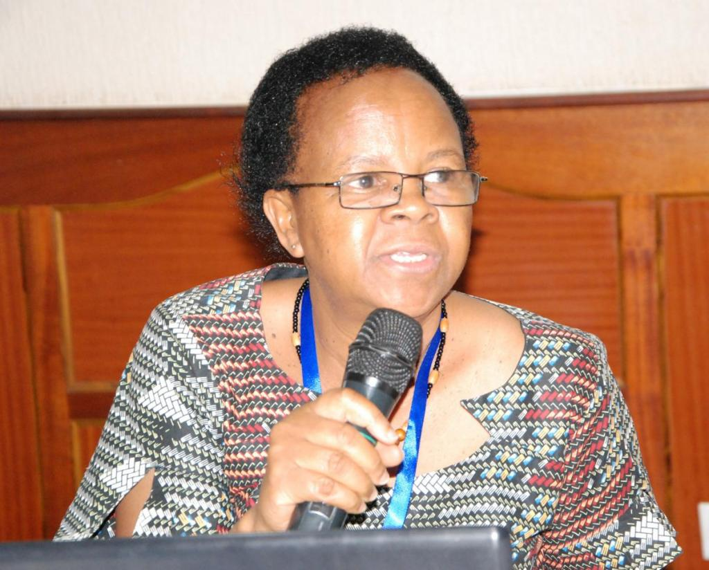 Dr. Oliva Mkumbo, LVFO Deputy Executive Secretary,  stressing a point during the Sectoral Council of Ministers Meeting