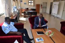 The LVFO Executive Secretary, Mr. Godfrey Monor with his Guest, Hon. Ambs. Liberat Mfumukeko, the EAC Secretary General in one of their informal meetings